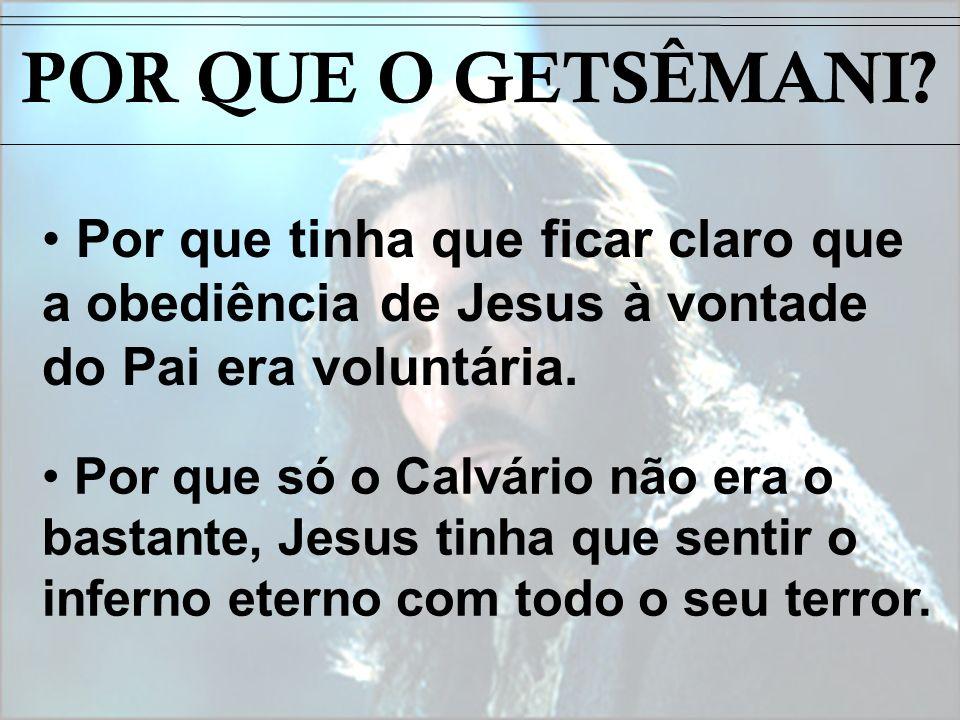 Por que tinha que ficar claro que a obediência de Jesus à vontade do Pai era voluntária. Por que só o Calvário não era o bastante, Jesus tinha que sen