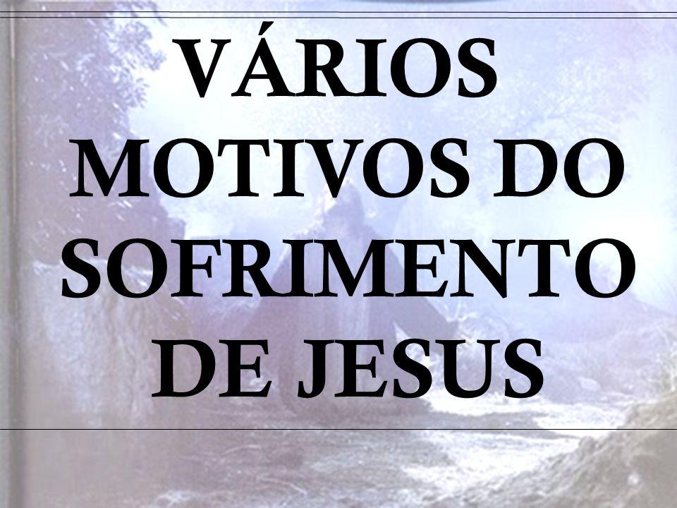VÁRIOS MOTIVOS DO SOFRIMENTO DE JESUS
