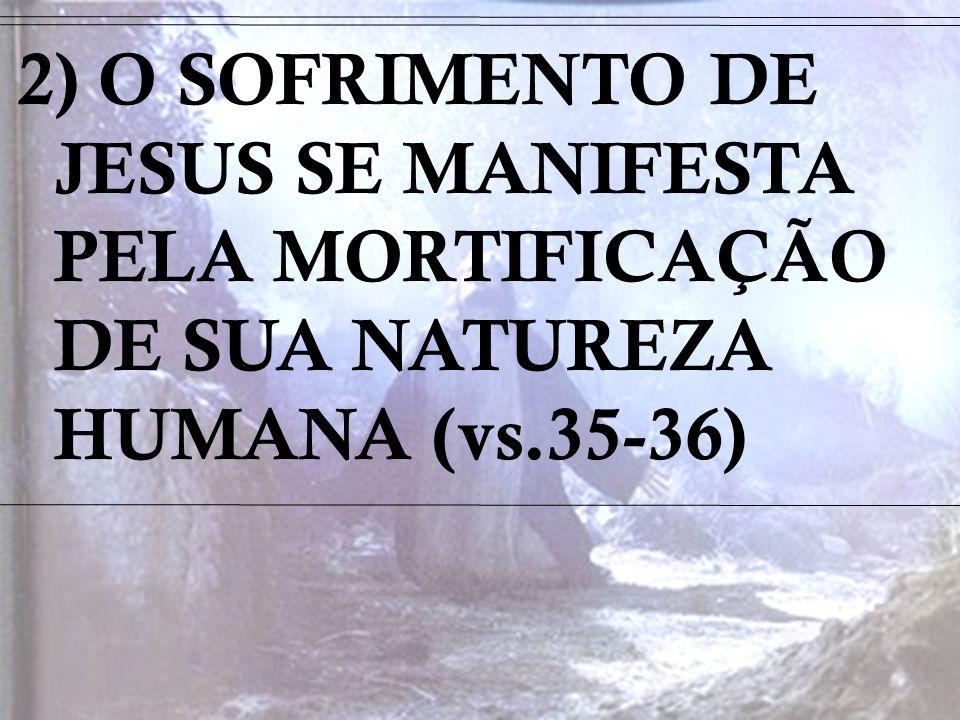3) O SOFRIMENTO DE JESUS PODE SER MANIFESTO AO SUAR SANGUE