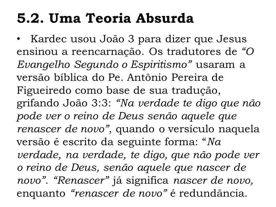 Kardec usou João 3 para dizer que Jesus ensinou a reencarnação. Os tradutores de O Evangelho Segundo o Espiritismo usaram a versão bíblica do Pe. Antô