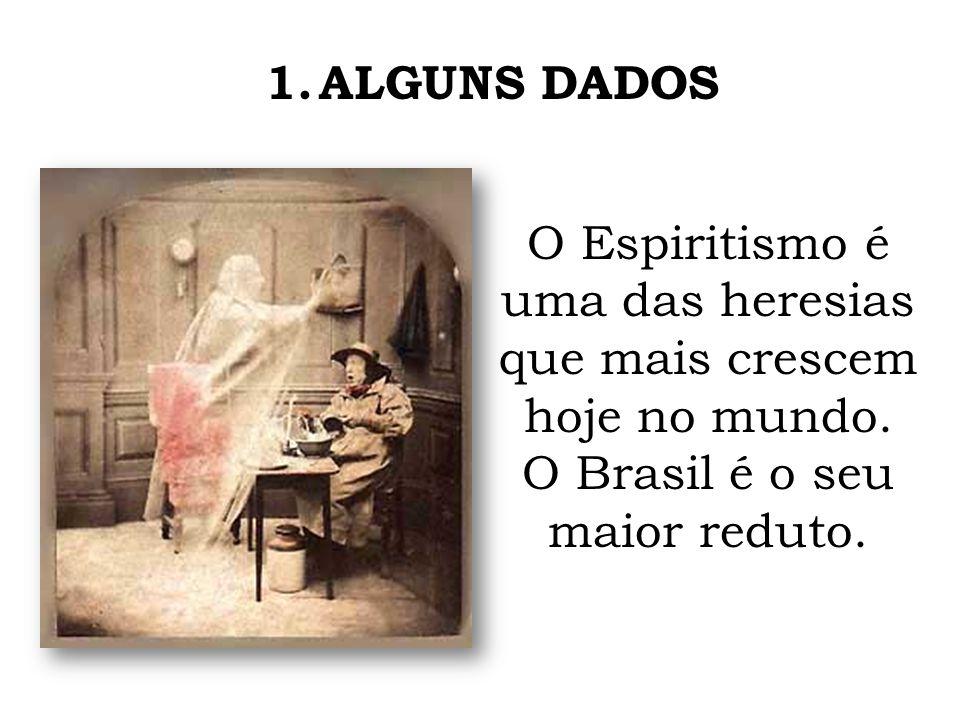 1.ALGUNS DADOS O Espiritismo é uma das heresias que mais crescem hoje no mundo. O Brasil é o seu maior reduto.