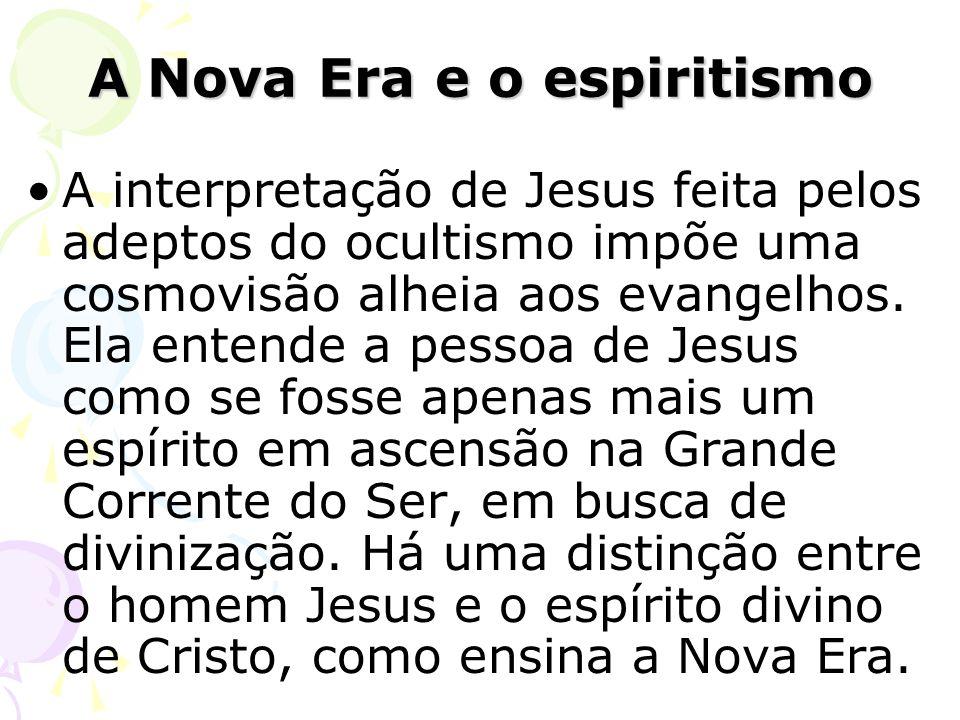 A interpretação de Jesus feita pelos adeptos do ocultismo impõe uma cosmovisão alheia aos evangelhos. Ela entende a pessoa de Jesus como se fosse apen