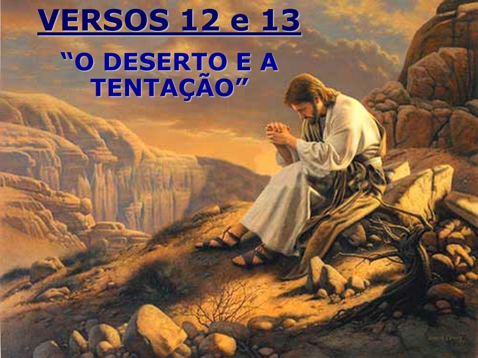 VERSOS 12 e 13 O DESERTO E A TENTAÇÃO