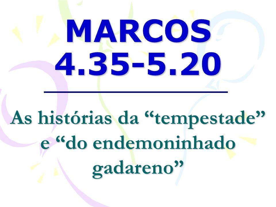 A Tempestade Marcos 4.35-41