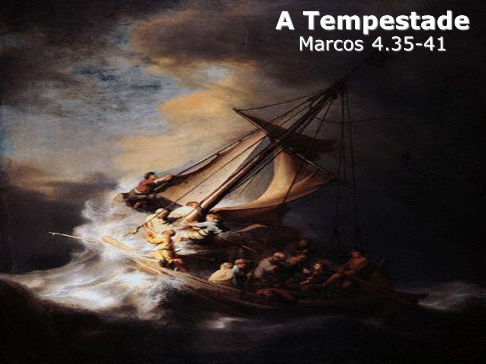 6.Os discípulos, naquele mesmo dia que ouviram as Parábolas, fraquejaram na fé.