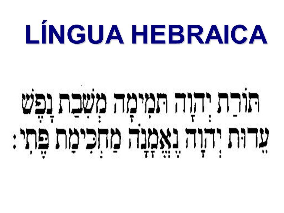 LÍNGUA HEBRAICA