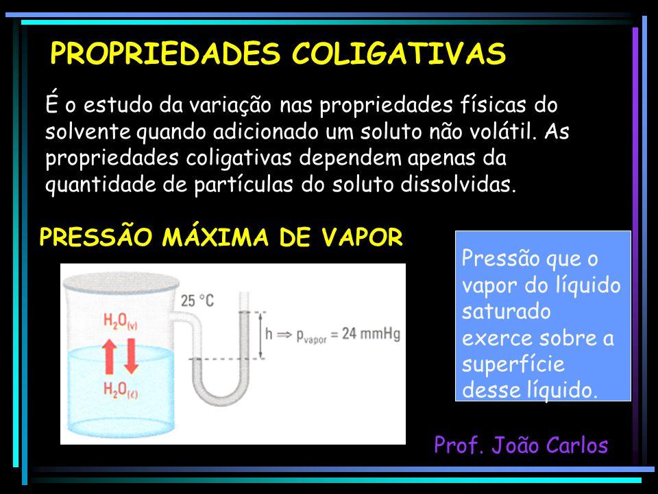 É o estudo da variação nas propriedades físicas do solvente quando adicionado um soluto não volátil. As propriedades coligativas dependem apenas da qu