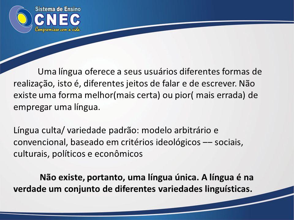 Níveis de variação linguística É importante observar que o processo de variação ocorre em todos os níveis de funcionamento da linguagem, sendo mais perceptível na pronúncia e no vocabulário.