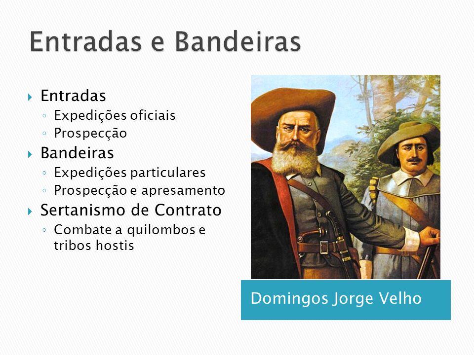 Domingos Jorge Velho Entradas Expedições oficiais Prospecção Bandeiras Expedições particulares Prospecção e apresamento Sertanismo de Contrato Combate