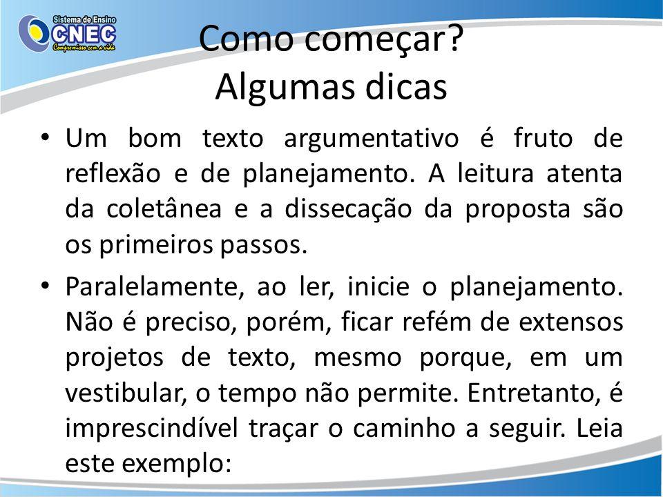 Uma frase nominal seguida de explicação (tema: a educação no Brasil) Uma tragédia.