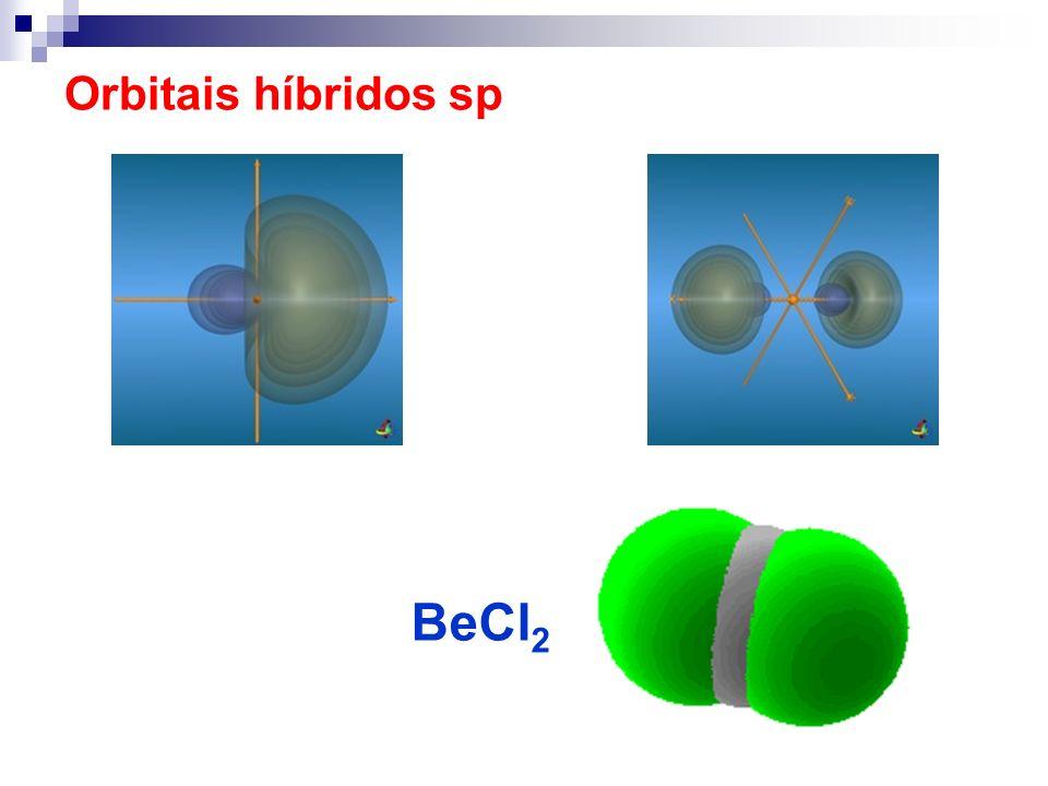 Hibridização sp 3 d 2 - Enxofre SF 6 sp 3 d 2 octaédrica