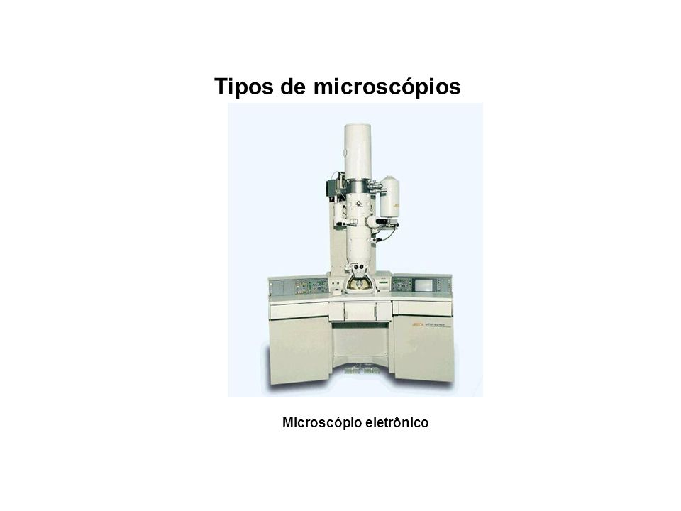 Tipos de microscópios Microscópio eletrônico