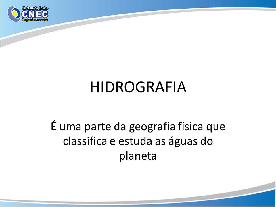 Rios tipos de drenagem O curso do rio define seu tipo de drenagem: Endorréica: O rio corre para dentro do continente.