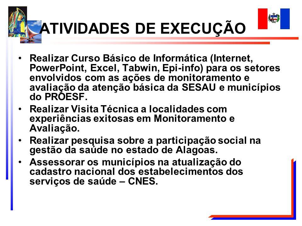 Realizar Curso Básico de Informática (Internet, PowerPoint, Excel, Tabwin, Epi-info) para os setores envolvidos com as ações de monitoramento e avalia