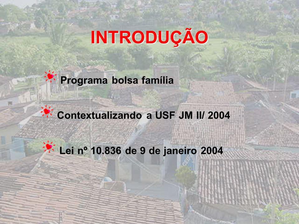 PROGRAMA BOLSA FAMÍLIA: o resgate da cidadania na Comunidade Jardim Miramar II Maria da Glória Pimentel Batista Prof. Dra. Maria Aparecida Alves Cardo