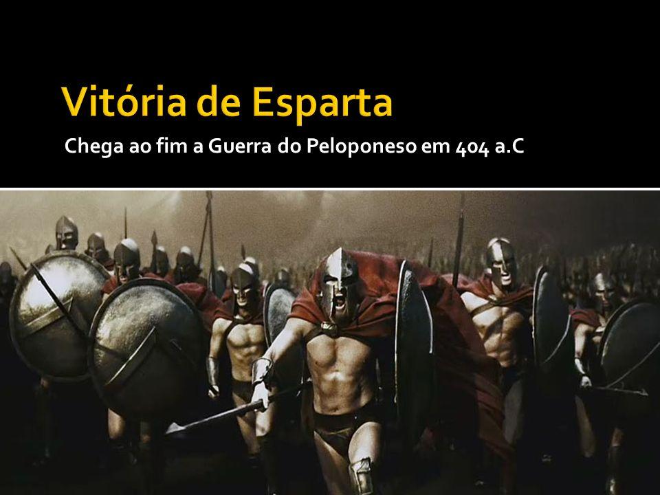 Chega ao fim a Guerra do Peloponeso em 404 a.C