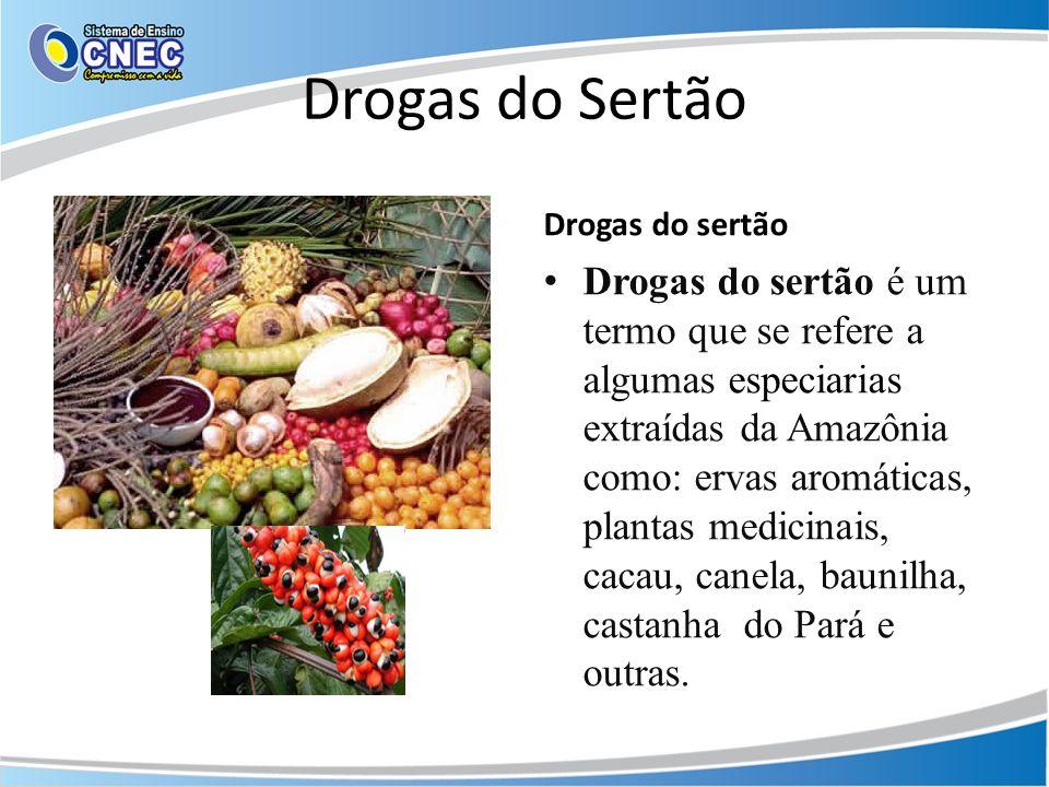 Drogas do Sertão Drogas do sertão Drogas do sertão é um termo que se refere a algumas especiarias extraídas da Amazônia como: ervas aromáticas, planta
