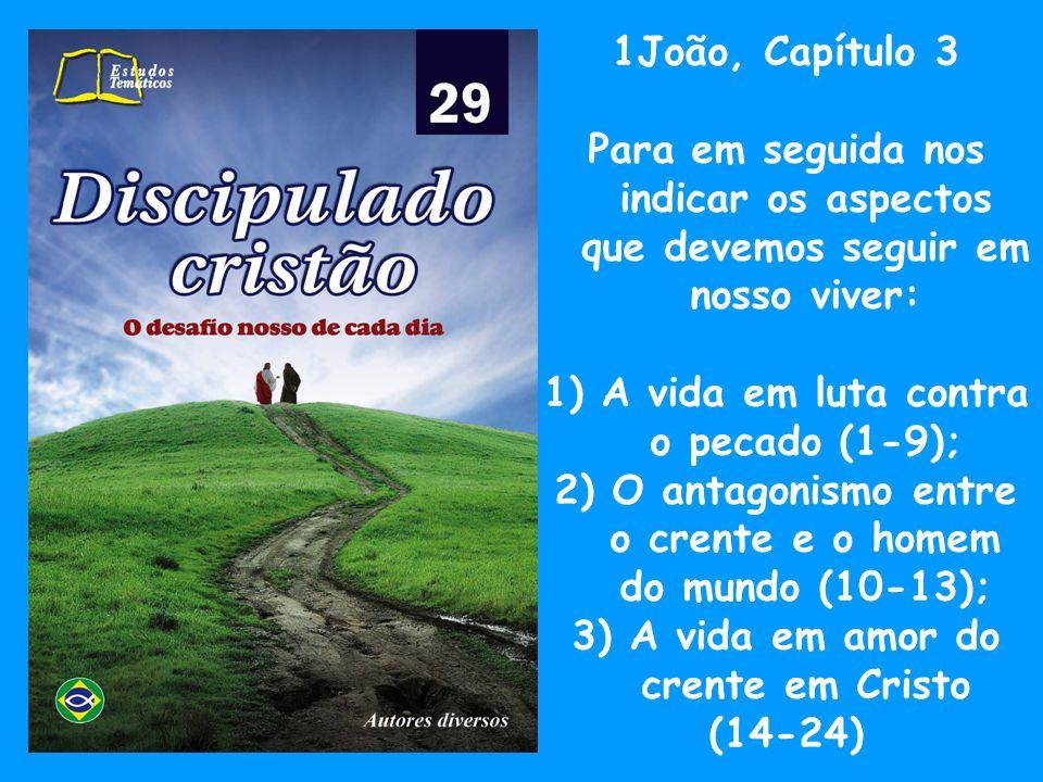1João, Capítulo 4 Os conselhos com respeito aos cuidados da vida cristã: 1)O cuidado com os falsos mestres (1-6); 2) A insistência no amor entre os irmãos em Cristo (7-21).