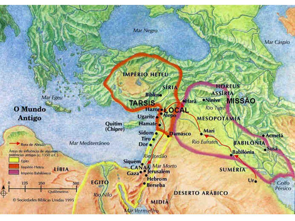 Introdução (III) A extensão da jornada e da missão Pelo mapa pode-se ver que a extensão da jornada de Jonas era longa.