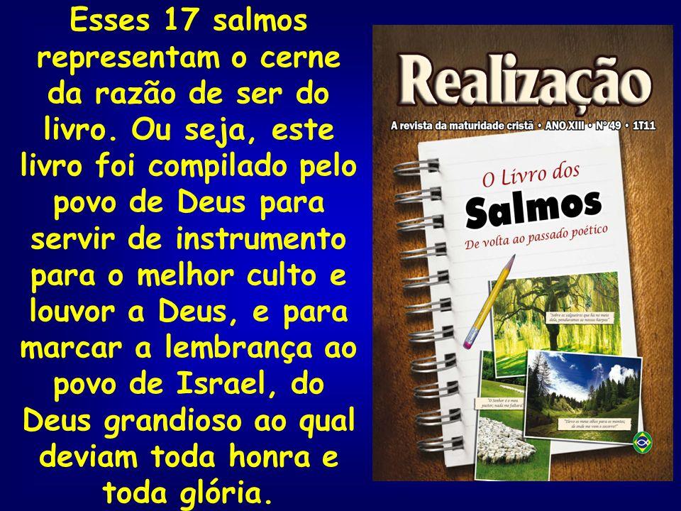 Esses 17 salmos representam o cerne da razão de ser do livro. Ou seja, este livro foi compilado pelo povo de Deus para servir de instrumento para o me