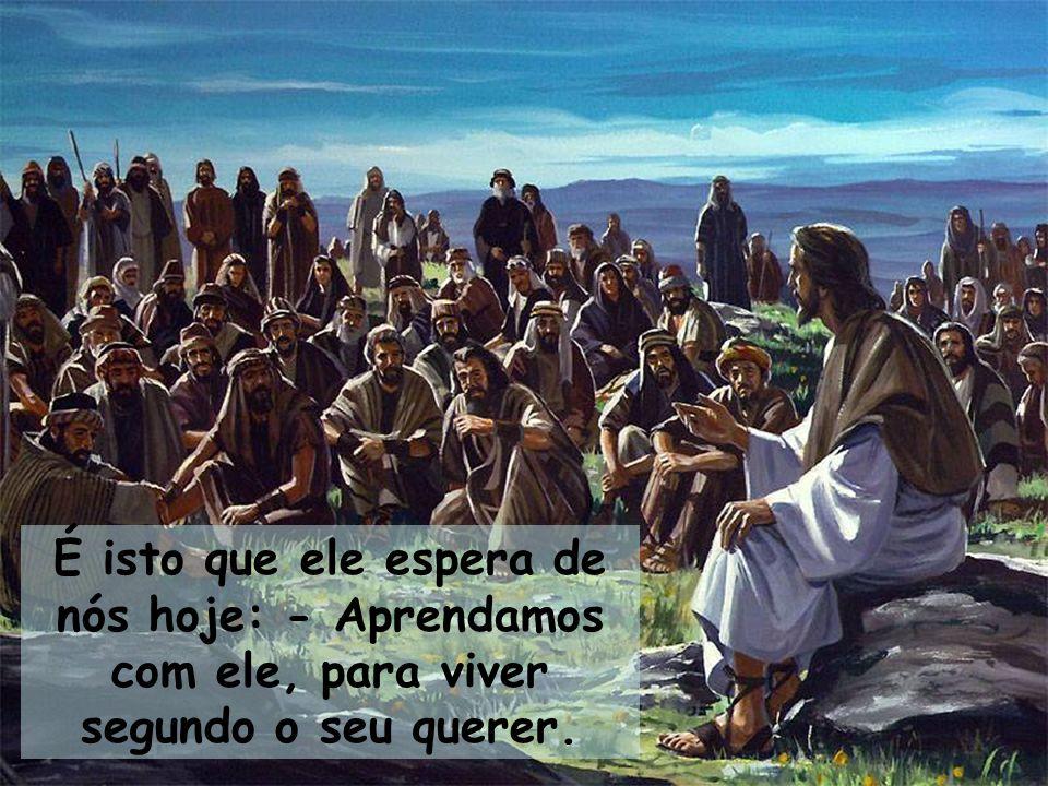 Uma vida cristã autêntica está acima destas situações do dia-a-dia que ele nos aponta: - Do espírito agressivo; - Do egoísmo da posse; - Do orgulho fútil; - Da ganância desmedida.