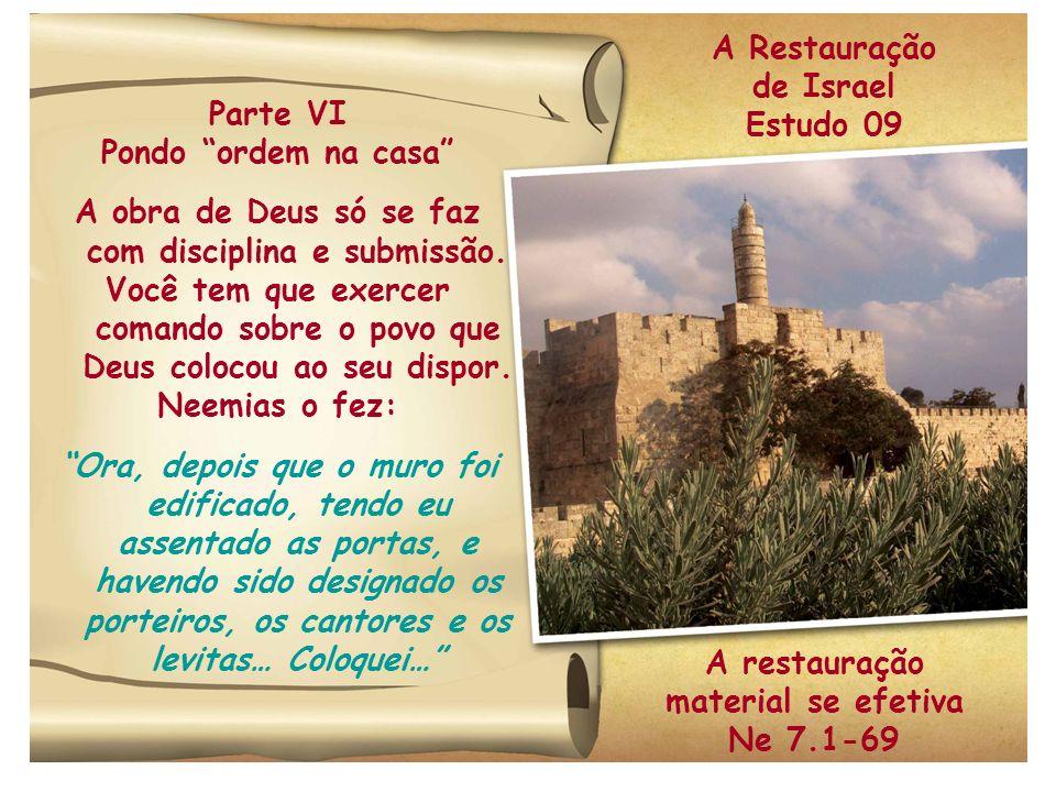 Parte VI Pondo ordem na casa A obra de Deus só se faz com disciplina e submissão. Você tem que exercer comando sobre o povo que Deus colocou ao seu di