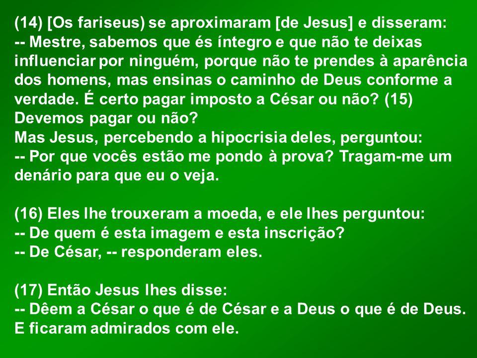:: A PERGUNTA A pergunta dos fariseus tinha uma motivação e uma razão.