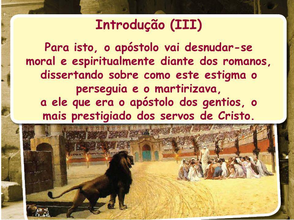 Introdução (IV) Mais uma vez, o texto é um tanto complexo e de difícil entendimento em alguns versículos onde ele desejou expressar fria e cruamente a situação do crente em luta contra o pecado.