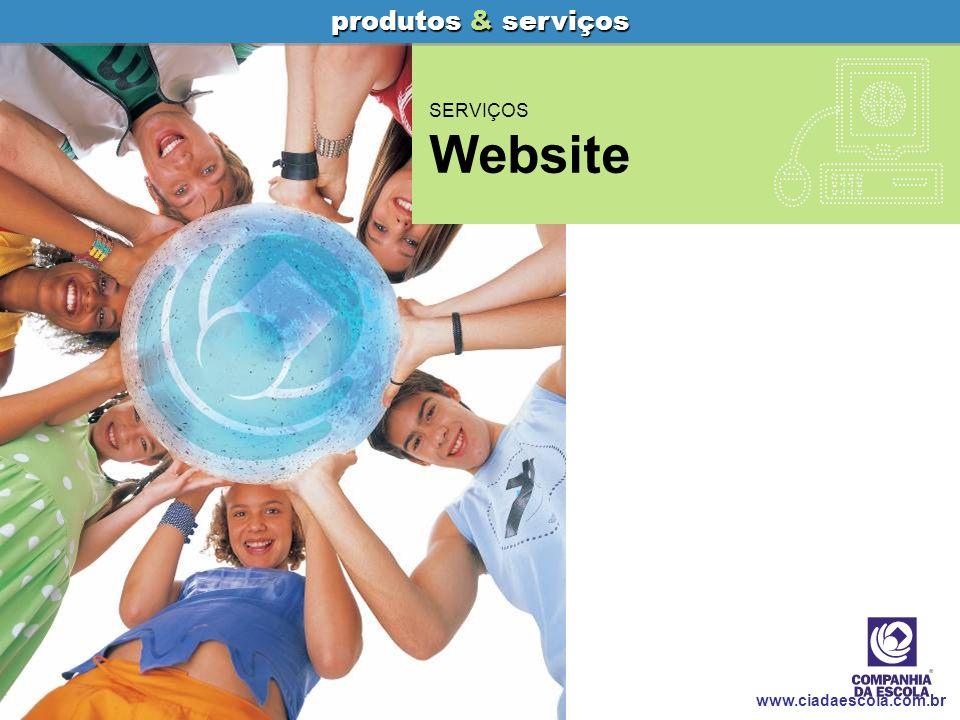 Website Companhia da Escola produtos & serviços www.ciadaescola.com.br Guia Educativo Indicação de livros, filmes e músicas Indicação de softwares educativos