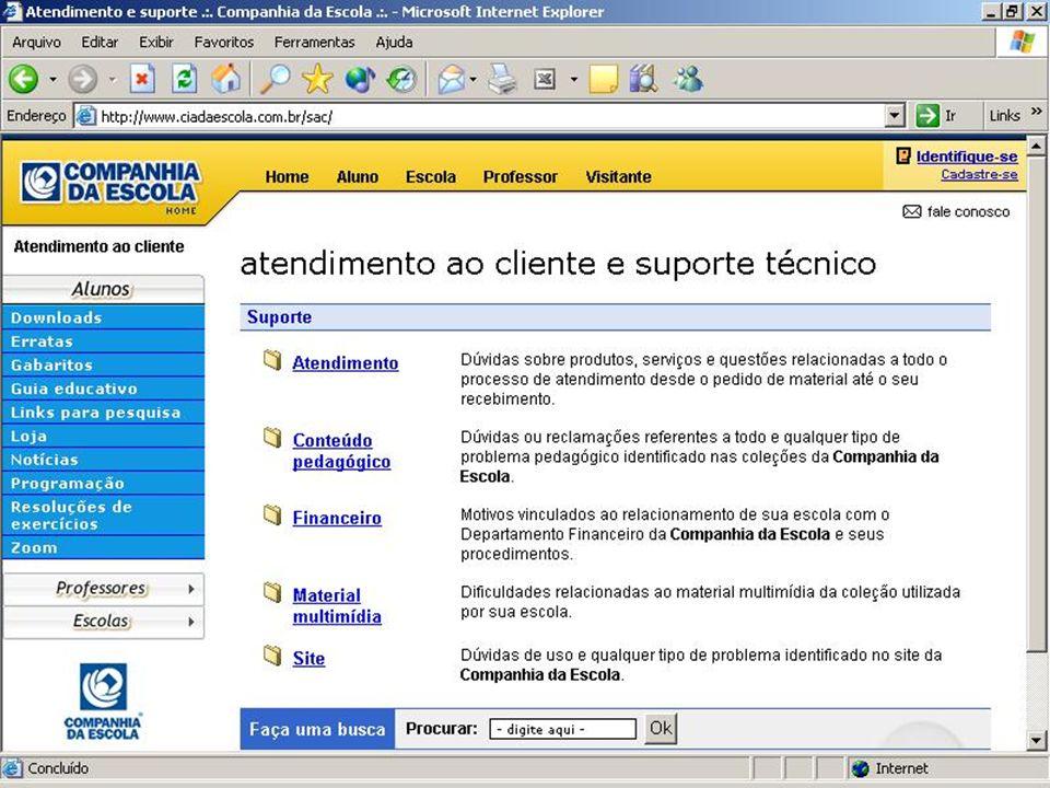 Website Companhia da Escola produtos & serviços www.ciadaescola.com.br