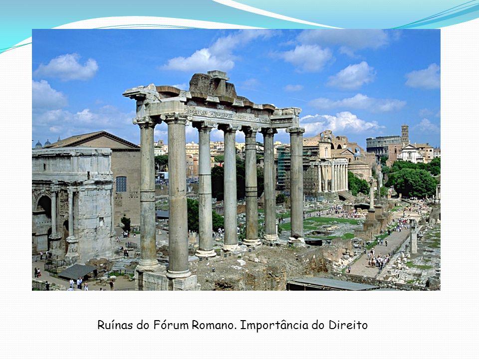 Ruínas do Fórum Romano. Importância do Direito