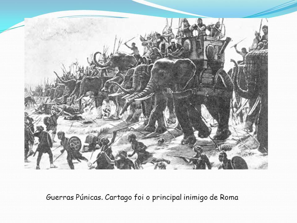 Guerras Púnicas. Cartago foi o principal inimigo de Roma
