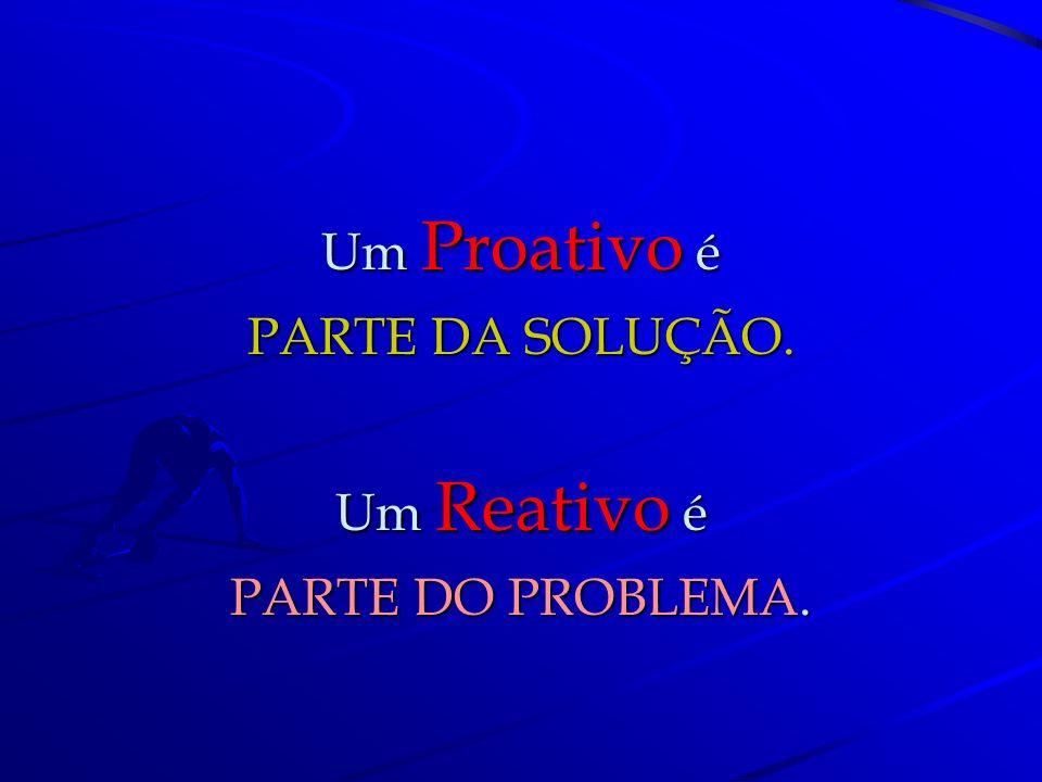 Um Proativo diz: Deve haver uma melhor forma Deve haver uma melhor forma de o fazer... Um Reativo diz: Um Reativo diz: Sempre fizemos assim. Sempre fi