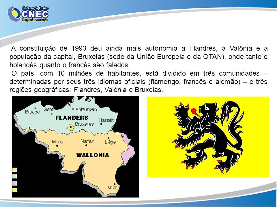 A constituição de 1993 deu ainda mais autonomia a Flandres, á Valônia e a população da capital, Bruxelas (sede da União Europeia e da OTAN), onde tant