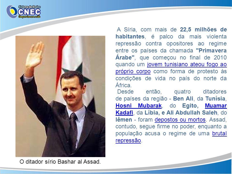 A Síria, com mais de 22,5 milhões de habitantes, é palco da mais violenta repressão contra opositores ao regime entre os países da chamada