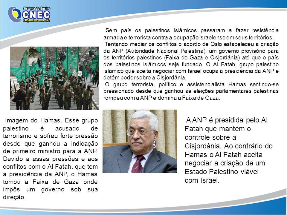 Sem país os palestinos islâmicos passaram a fazer resistência armada e terrorista contra a ocupação israelense em seus territórios. Tentando mediar os