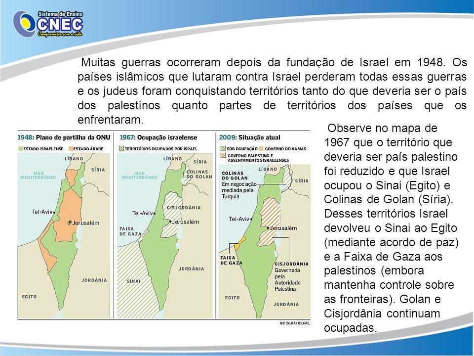 Muitas guerras ocorreram depois da fundação de Israel em 1948. Os países islâmicos que lutaram contra Israel perderam todas essas guerras e os judeus