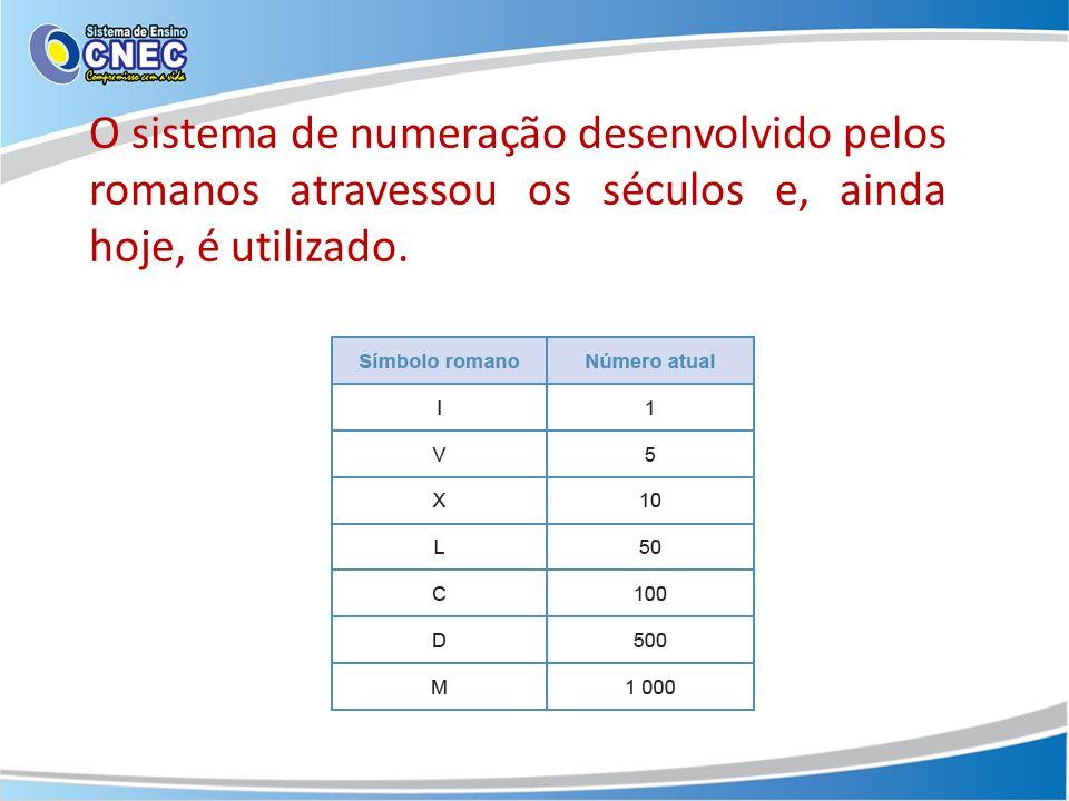 O sistema de numeração desenvolvido pelos romanos atravessou os séculos e, ainda hoje, é utilizado.