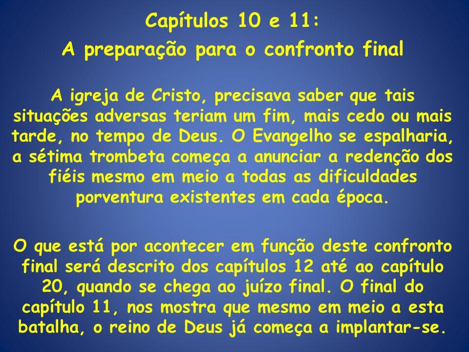 Capítulos 10 e 11: A preparação para o confronto final A igreja de Cristo, precisava saber que tais situações adversas teriam um fim, mais cedo ou mai