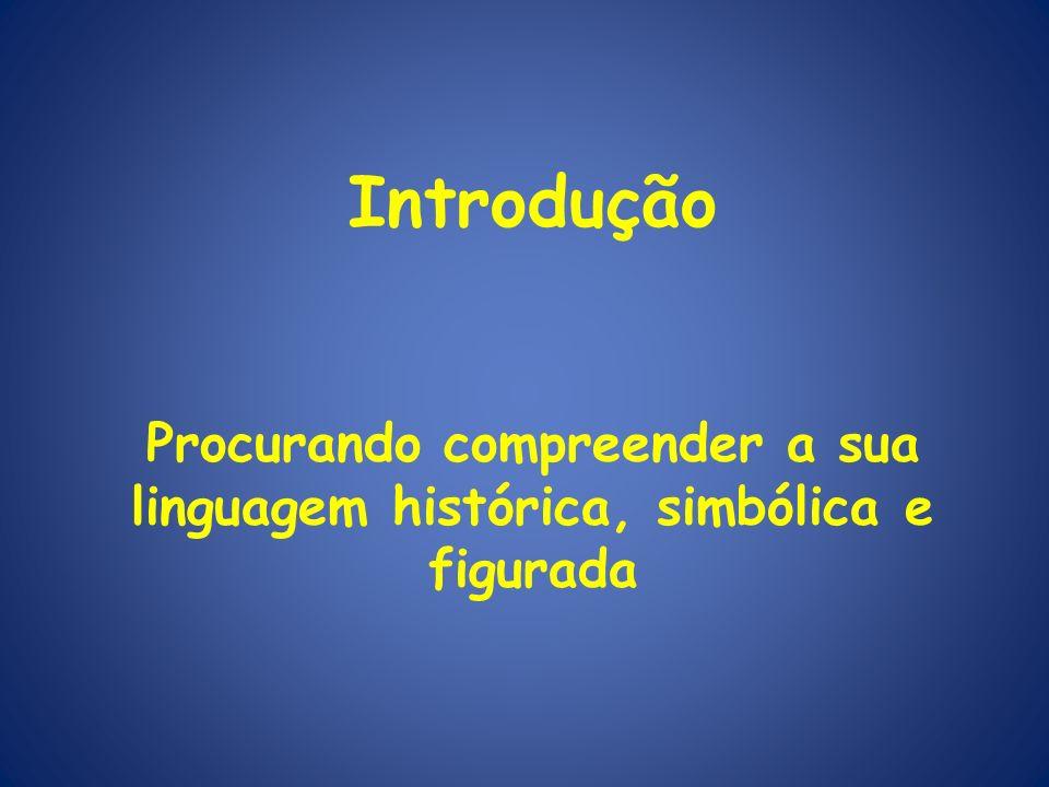 Introdução Procurando compreender a sua linguagem histórica, simbólica e figurada