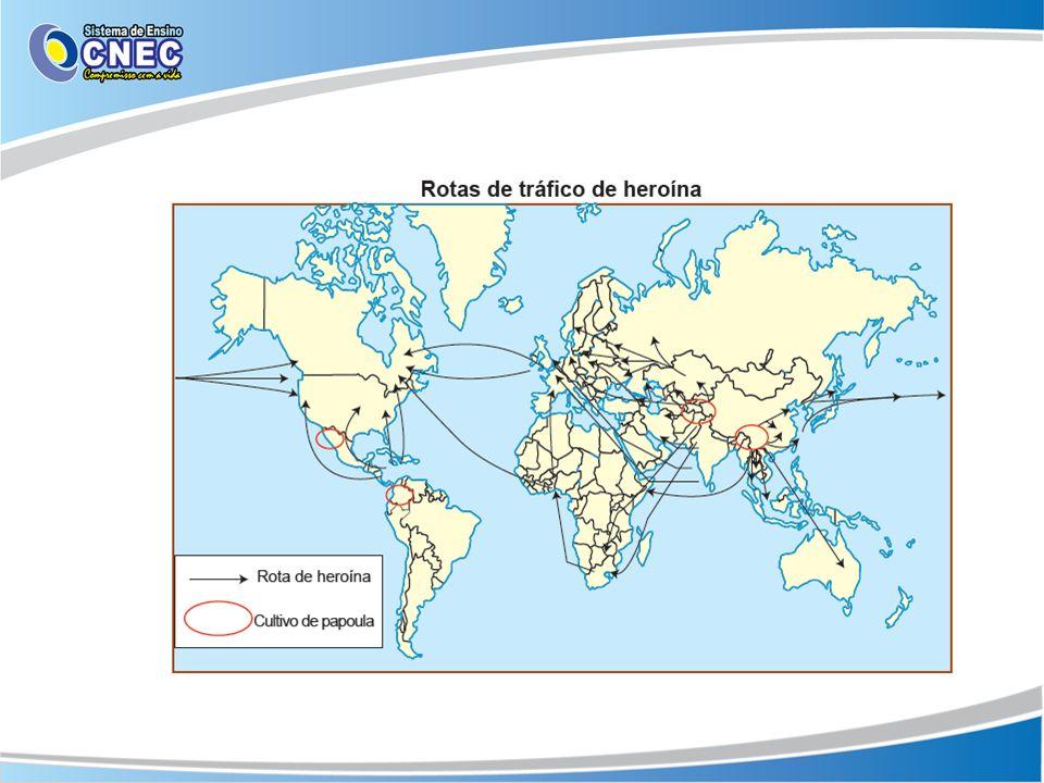 Rota da região balcânica: A heroína chega a Europa via Turquia, que funciona como porta de entrada da droga no continente.
