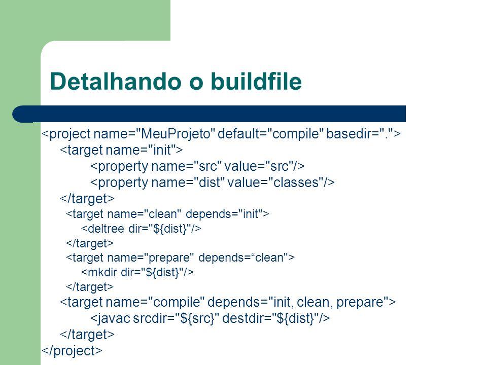Detalhando o buildfile
