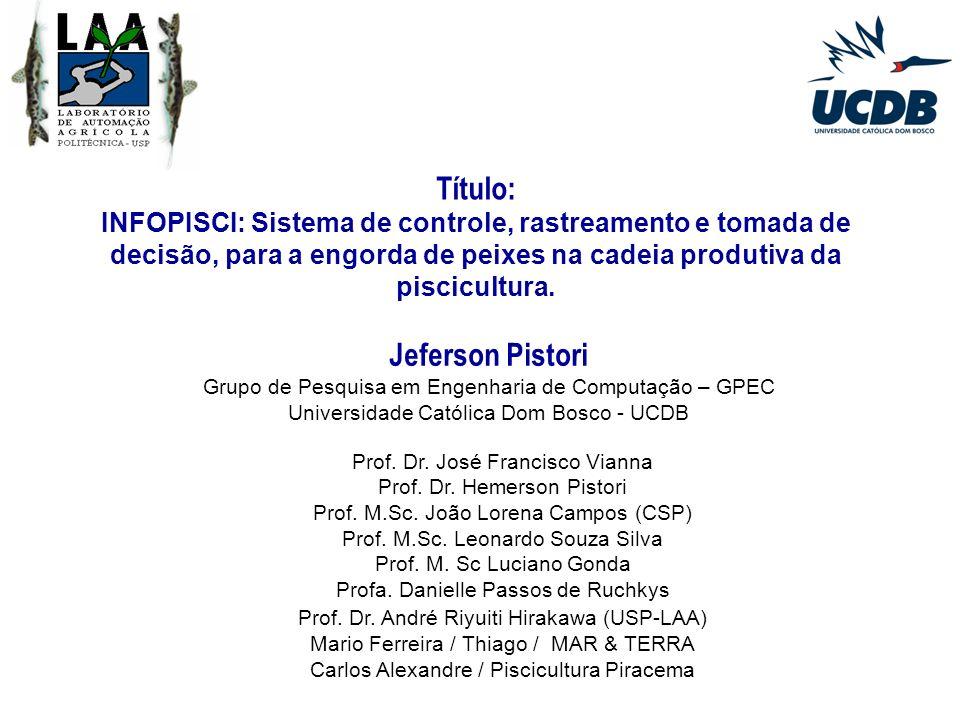 Cadeia Produtiva da Piscicultura - CPP Diagnóstico do Setor INFOPISCI Roteiro da Apresentação