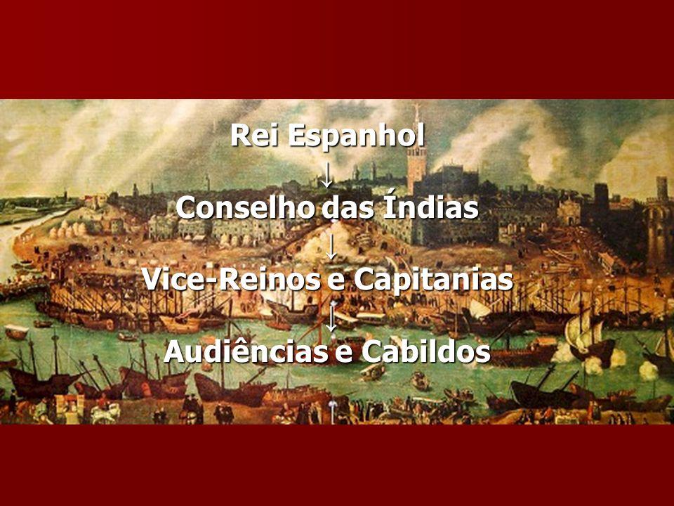 Rei Espanhol Conselho das Índias Vice-Reinos e Capitanias Audiências e Cabildos