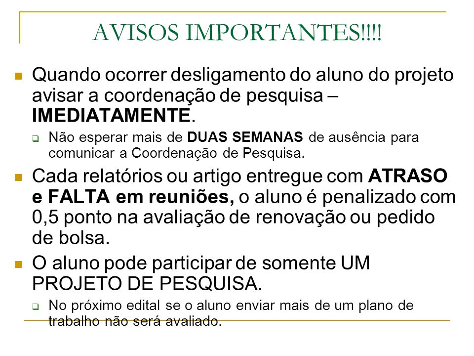 AVISOS IMPORTANTES!!!.