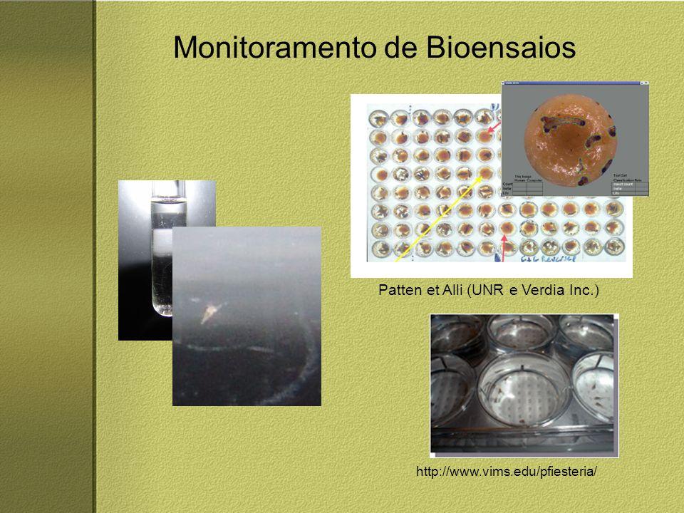 Monitoramento de Bioensaios http://www.vims.edu/pfiesteria/ Patten et Alli (UNR e Verdia Inc.)