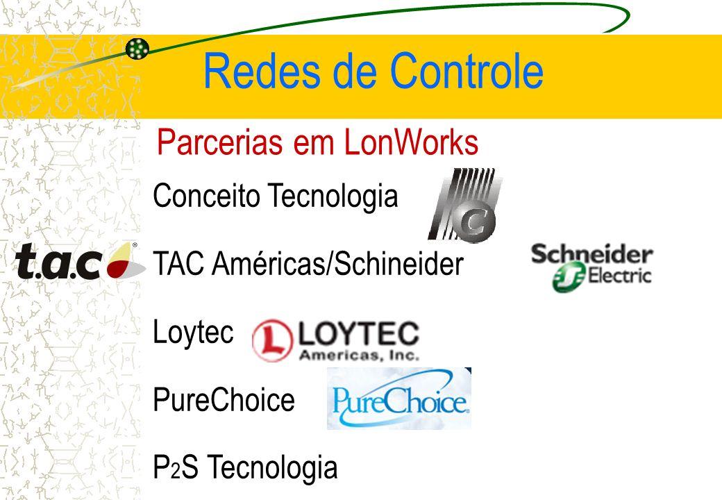 Parcerias em LonWorks Conceito Tecnologia TAC Américas/Schineider Loytec PureChoice P 2 S Tecnologia Redes de Controle