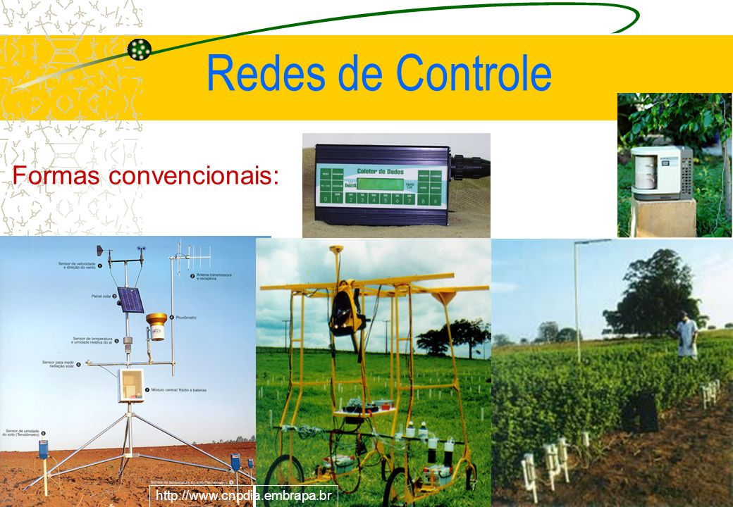 http://www.cnpdia.embrapa.br Redes de Controle Formas convencionais: http://www.cnpdia.embrapa.br