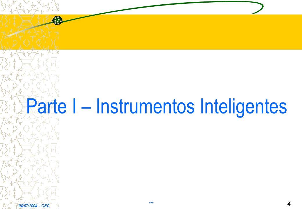 Parte I – Instrumentos Inteligentes 04/07/2004 - CEC *** 4