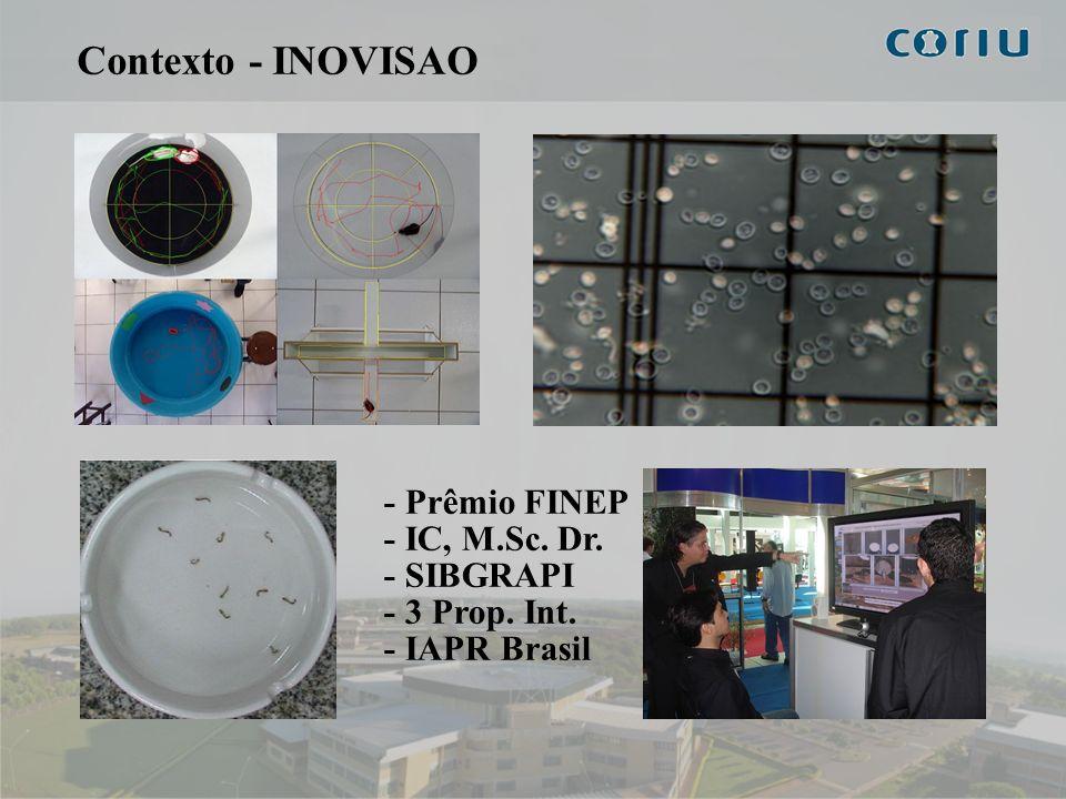 3 Contexto - INOVISAO - Prêmio FINEP - IC, M.Sc. Dr. - SIBGRAPI - 3 Prop. Int. - IAPR Brasil